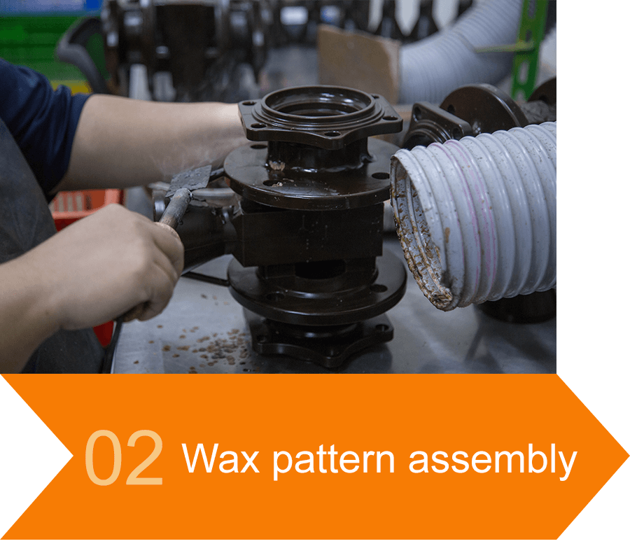 02 Wax pattern assembly