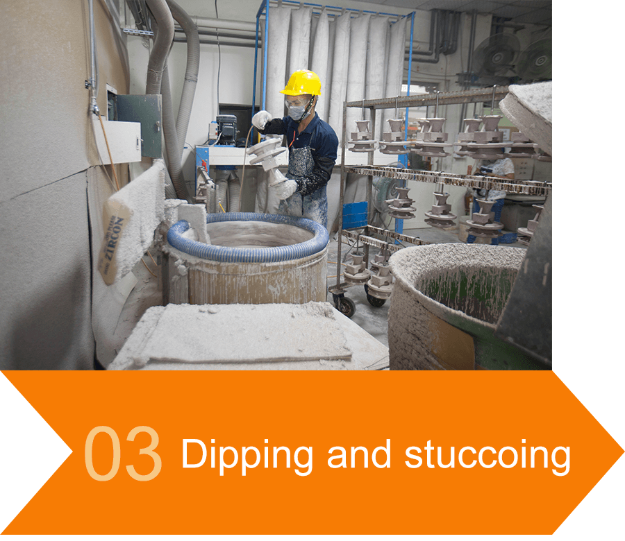 03 Dipping and stuccoing